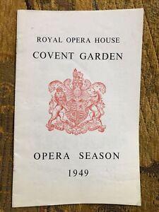 Royal Opera House Programme Wagner Tristan 1949 - Kirsten Flagstad, Hans Hotter