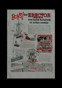 1953 Gilbert Erector Set Ad *Boys Get Erector* vintage Original