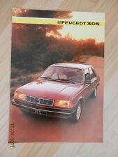 catalogue PEUGEOT 305 1985