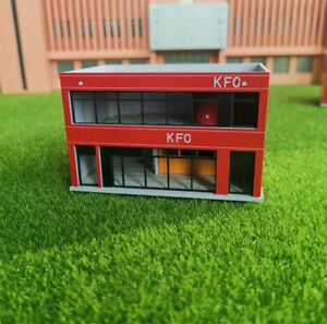 1/150 N Scale Fast Food Store Architecture Plastic DIY Assembling Building Model