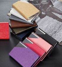 PU Leather & Stainless Steel Business Name Credit Card Case Holder USA Seller!!