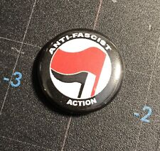 "Anti-Fascist action 1"" Button A013B Antifa Antifascist Anti Nazi Pin Badge"