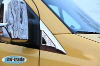Für Mercedes Sprinter W906 VW Crafter Chrom Spiegel Dreiecke Blenden EDELSTAHL