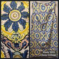 NWOT Betsey Johnson Womens 10 Paisley Sleeveless Sheath Midi Cotton Blend Dress