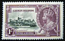 Cayman Islands Stamp 1935 1s Jubilee Issue Scott # 84 SG111 MINT OG H