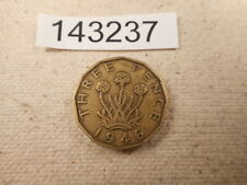 1946 Great Britain Three Pence - Nice Low Mintage Collector Coin - # 143237