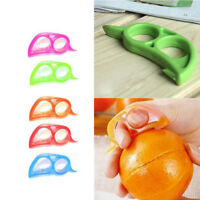 Portable Orange Peeler Opener Cutter Lemon Citrus Fruit Skin Remover Slicer Tool