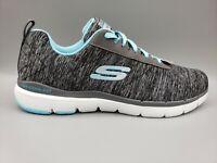 Skechers Women's Flex Appeal 3.0 Insiders Black & Blue Sneaker Size 9