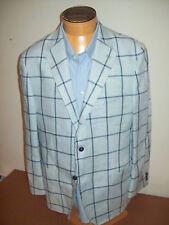 Peter Millar 100% Linen Windowpane Check Vespa 2 Button Sport Coat NWT 42R $795