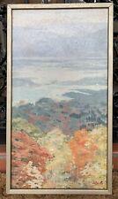 """Hilda DeShazo (1907-1979) """"Autumn Mist"""" Pawling Valley NY Landscape Painting"""