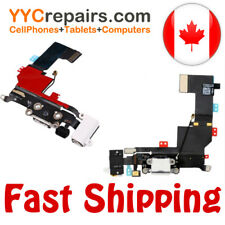 iPhone 5S White Headphone Jack Audio Charger Charging USB Dock Port Flex Cable