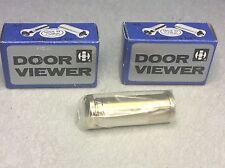 """35-57MM BRASS SECURITY DOOR VIEWER ADJ 160 DEG 1 3/8""""-2 1/4"""" (QTY 2) #62267"""