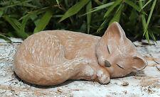 Stone Figurine Cat Puss Figure Garden Ornament Figure Sculpture Gift Idea