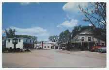 NY ~ Hotel, Business Area, Antique Cars COPAKE New York c1950's Postcard