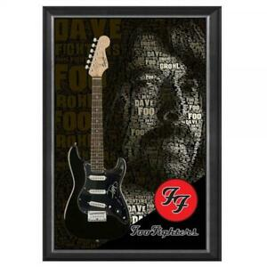 DAVE GROHL FOO FIGHTERS HAND SIGNED FRAMED FULL SIZE STRATOCASTER GUITAR NIRVANA