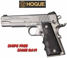 Hogue 1911 Govt. Model Black Rubber Grip with Finger Grooves New! # 45000