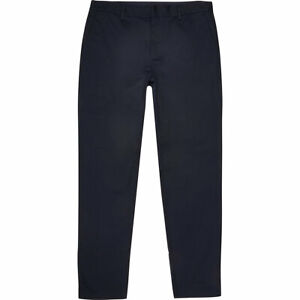 River Island Mens Big And Tall Navy Slim Fit Chino Trousers
