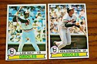 1979 Topps #10 Lee May and #615 Ken Singleton - Orioles - Set Break- NM
