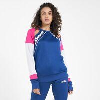 Ellesse Womens Sweatshirt Jumper Maura Blue Pink Logo XS 8uk RRP £60