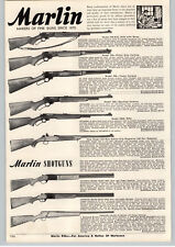 1956 PAPER AD 2 PG Marlin Rifle Shotgun 90ST Over Under 88-DL .22 15 Shot