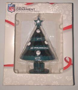Philadelphia Eagles NFL Football Christmas Tree Bell Ornament Licensed Green a2