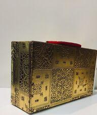 Gold Indian Ethnic 2 Bar Bangle Storage Box Indian Bangle Jewelery Box With lock