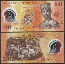 Brunei  2011  Fine 10 Ringgit Dollars Banknote Polymer Bill P-37