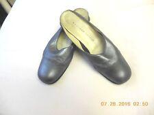 Metalic Grey slides platform wedge law heel size 91/2 fine leather