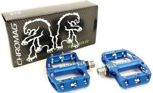 """Chromag Radar Mountain Bike Platform Junior Pedals 9/16"""" Blue"""