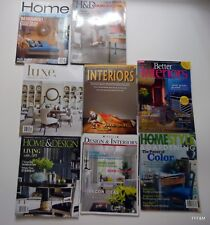 Design Interior Shelter Magazines Mixed LOT Themes American Asian Color Luxe.