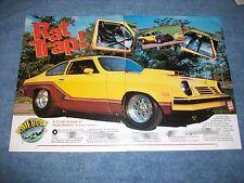 "1974 Chevy Vega Vintage Drag Car Article ""Rat Trap"" Pro Street"