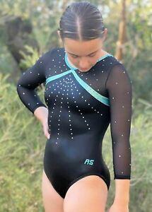RS Gymwear 3/4 Sleeve leotard, Cora Onyx (RSG-244)