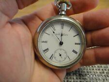 Co. Silveriod Hunter Case Pocket Watch Antique 16 Size American Waltham Watch
