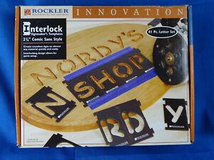 """Rockler 2 1/4"""" Sign Maker's Template  41 Letters Kit - Comic Sans Style Font"""