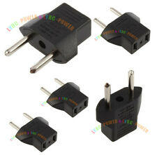 5Pcs US USA CN to EU Euro Europe AC Power Plug Converter Travel Charger Adapter