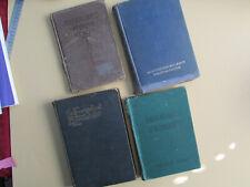Vintage Hymn Books, lot of 4, 1911, 1937, 1917, 1940s, Protestant