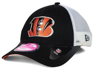 Cincinnati Bengals NFL New Era 9Forty 940 WOMENS Trucker Mesh Adjustable Cap Hat