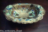 Nippon Japan footed bowl heavy gold decorations, gorgeous work, c1900s[4-2]