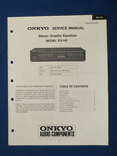 ONKYO EQ-140 EQUALIZER SERVICE MANUAL ORIGINAL FACTORY ISSUE GOOD CONDITION