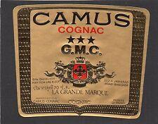 COGNAC VIEILLE ETIQUETTE CAMUS COGNAC G.M.C. EXPORT BANGKOK   §05/02/17§