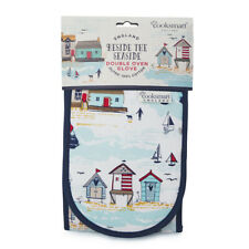 Cooksmart Beside the Seaside Double Oven Glove - Beach Hut Design - FAST POST!!