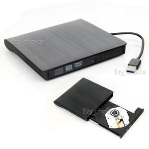 USB 3.0 Slim Portable External DVD-RW CD-RW Combo Drive Burner Reader Player AU