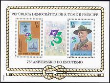 Sao Tome & Principe 1982 Scout Pfadfinder, Mi.769-770: Bl.95A III MNH