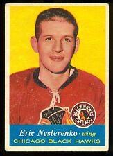 1957 58  TOPPS HOCKEY #24 ERIC NESTERENKO VG-EX CHICAGO BLACK HAWKS CARD