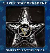 Pittsburgh Penquins NHL Silver Star Ornament Sports Collection Series
