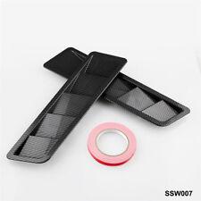 One Pair Set 2Pc 17X5 Universal Hood Vents Louver Panel Trim Matte Black ABS