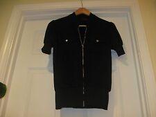KITSCH Jacket,Black Color Short Sleeves , Sz XS