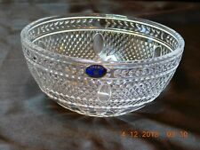 "Czech Bohemia Lead Crystal Bowl - Crosshatch Scallop Design - 6"" Dia. - 2.75""h!"