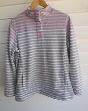 Millers Women's Grey Pink White Stripe Jumper Top - Size 12