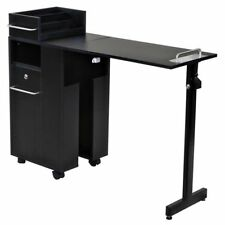 "Icarus ""Exceptional"" Black Manicure Nail Table Station"